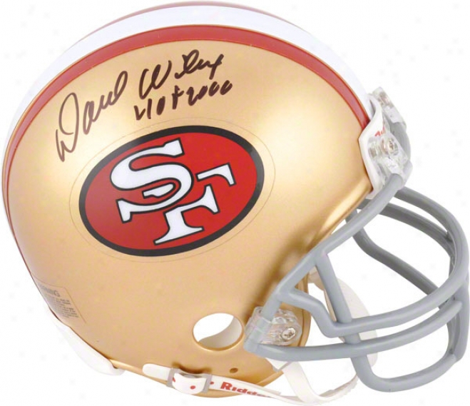 Dave Wilcox Autograpged Mini Helmet  Details: San Francisco 49ers, Hof 2000 Inscription