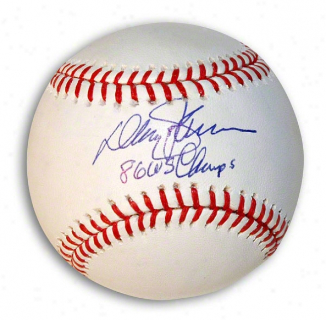 Davey Johnson Autographed Baseball Inscribed &quot86 Ws Champs&quot