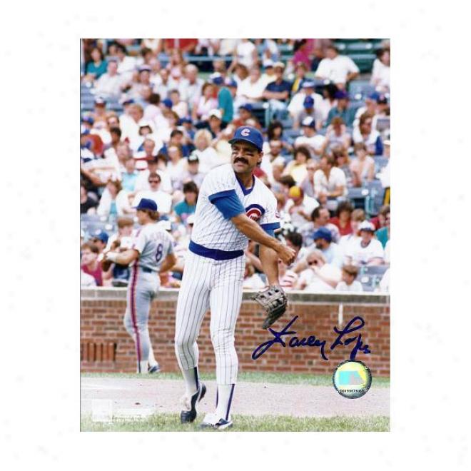 Davey Lopes Autographed Chicago Cubs 8xl0 Photo
