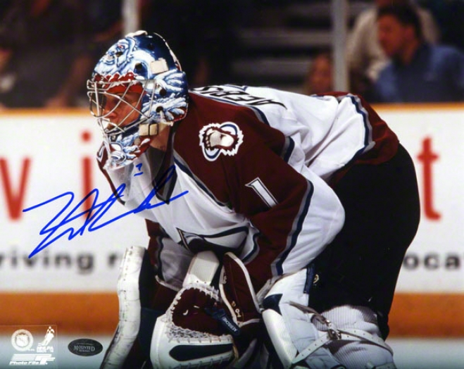 David Aebischer Colorado Avalanche 8x10 Autographed Photorgaph