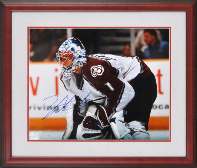 David Aebischer Colorado Avalanche Framed 16x20 Autographed Photograph