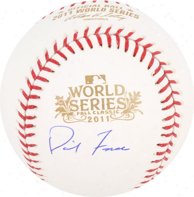 David Freese Autographed Baseball  Details: St. Louis Cardinals, 2011 World Series Champions, Ws Ball