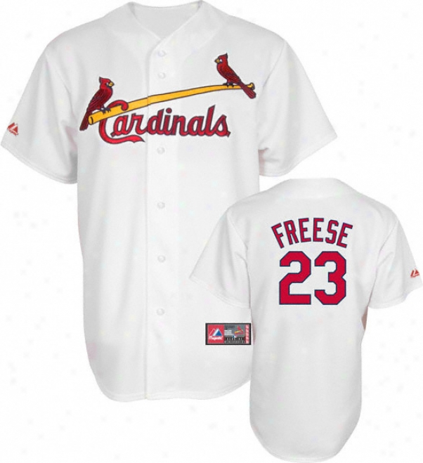 David Freese Jersey: Adult Majestic Home White Replica #23 St. Louis Cardinals Jersey