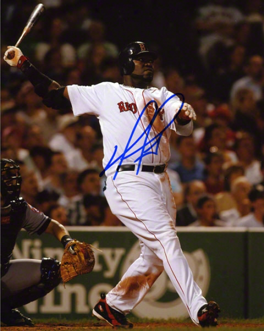 David Ortiz Autograpehd Photograph: Boston Red Sox 8x10 Photo