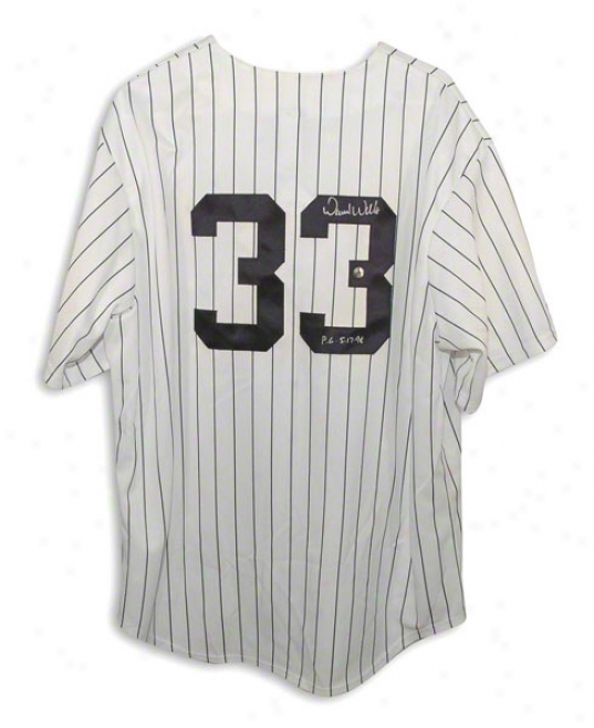 David Wells Autographed New York Yankees Pinstripe Majestic Jersey Inscribed &quotpg 5-17-98&quot