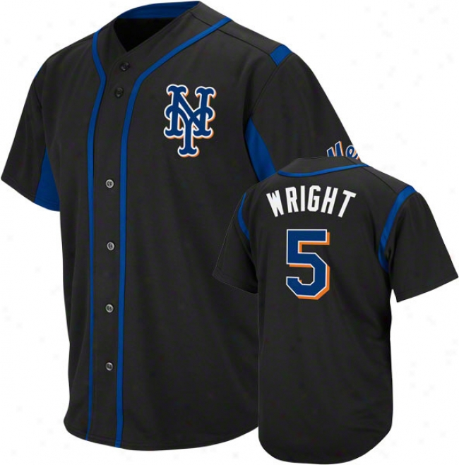 David Wright Novel York Mets Wind-up Black Player Jersey