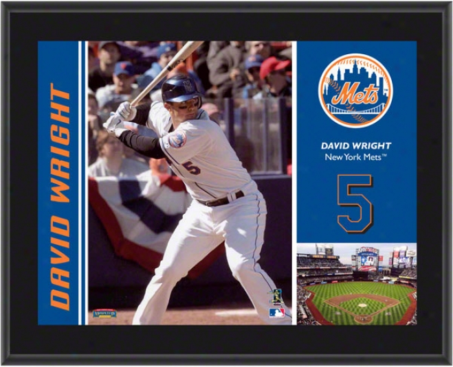 David Wright Plaque  Particulars: New York Mdts, Suvlimated, 10x13, Mlb Plaque