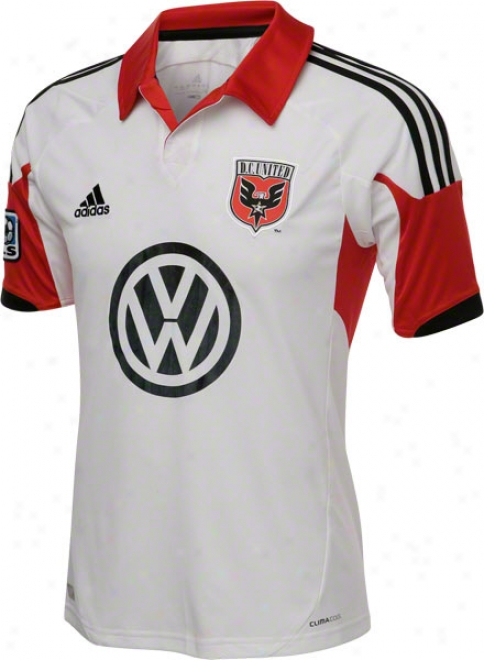 D.c. United White Adidas Replica Away Jersey