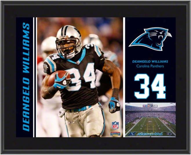 Deaneglo William Plaque  Details: Carolina Panthers, Sublimated, 10x13, Nfl Plaque