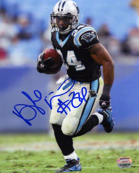 Deanvelo Williams Carolina Panthera Autographed 8x10 Photograph
