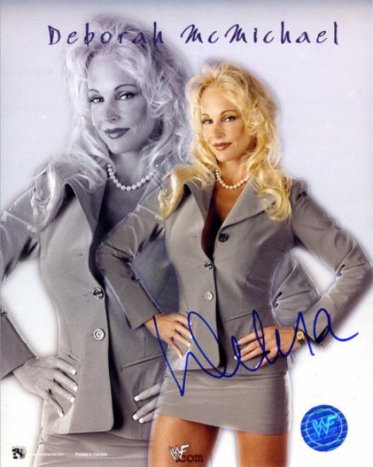 Debra Mcmichael Wwf Autographed 8x10 Photograph
