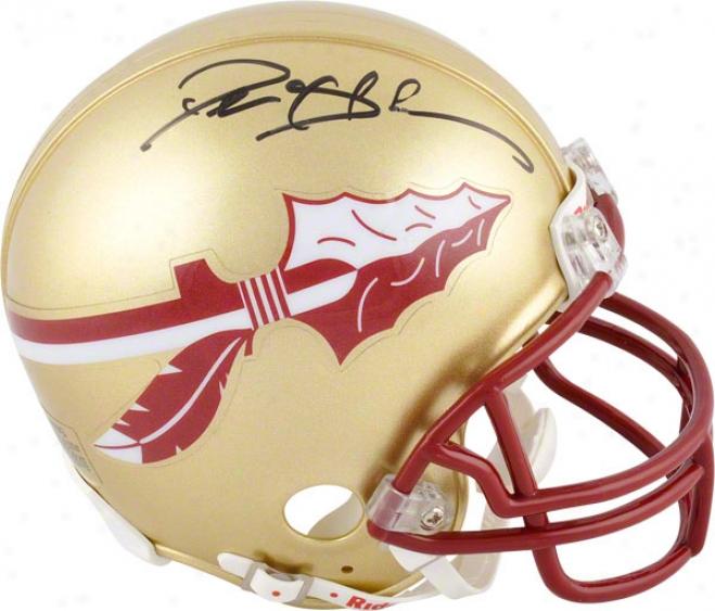 Deion Sanders Autographed Mini Helmet  Defails: Florida State Seminoles