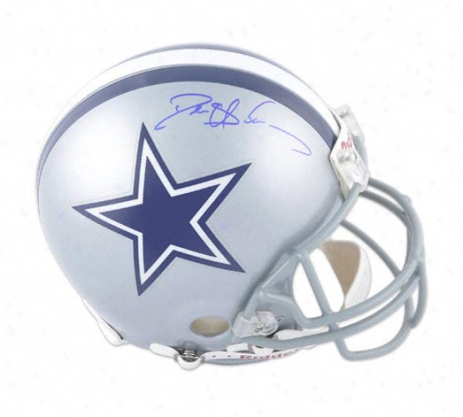 Deion Sanders Autographed Pro-line Helmet  Details: Dallas Cowboys, Authentic Riddell Helmet