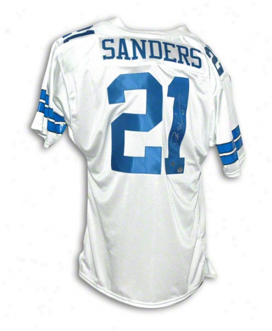 Deion Sanders Dallas Cowboys Autographed White Throwback Jersey