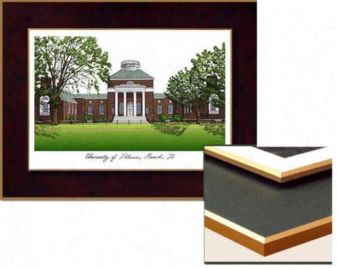 Delaware Collegiate Laminated Lithograph