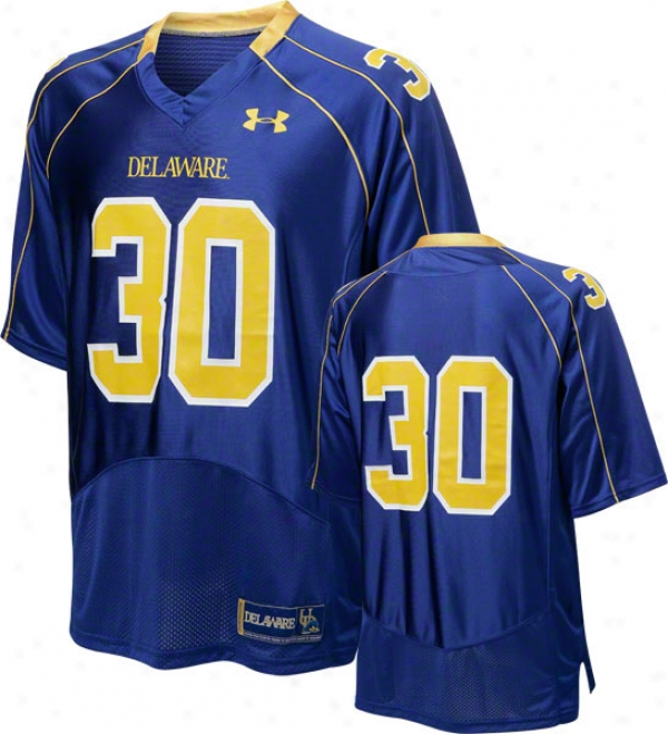 Delaware Fightin' Blue Hens Purple Under Armour Performance Replica Football Jersey: Delaware Fightin' Blue Hens # Football Jersey