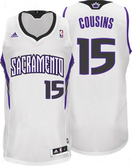 Demarcus Cousins Jersey: Adidas White Swingman #15 Sacramento Kings Jersey