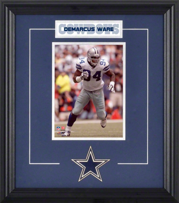Demarcus Ware Framed 6x8 Photograph With Team Logo & Plate