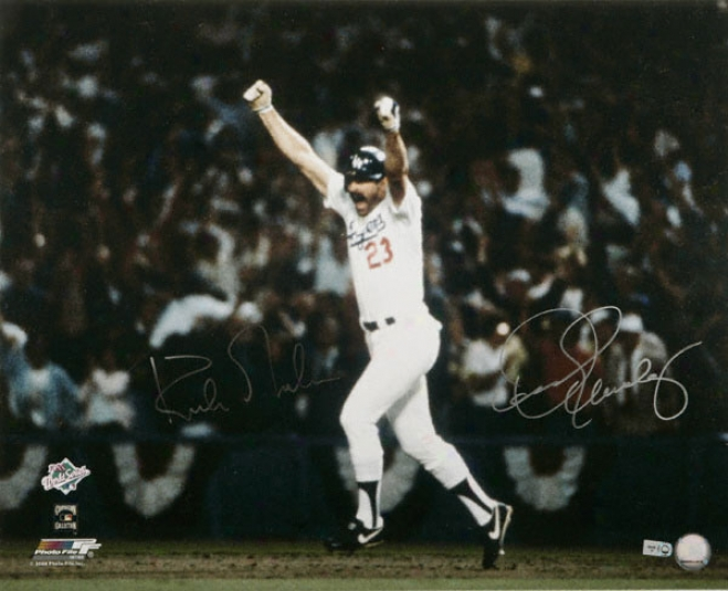 Dennis Eckersley And Kirk Gibson Dual A8tographed 16x20 Photogeaph