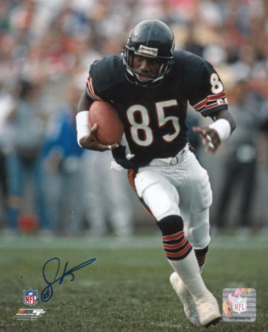 Dennis Mckinnon Chicago Bears Autographed 8x10 Photograph