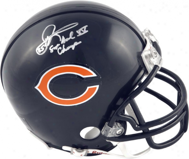 Dennis Mckinnon Chucago Bears Autographed Mini Helmet With Sb Xx Cbamps Inscription