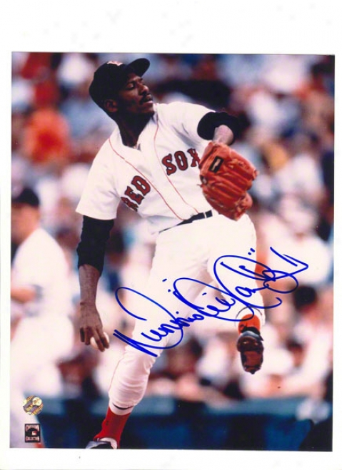 Dennis &quotoil Can&quot Boyd Autographed Boston Red Sox 8x10 Photo Inscribed &quotoil Can&quot