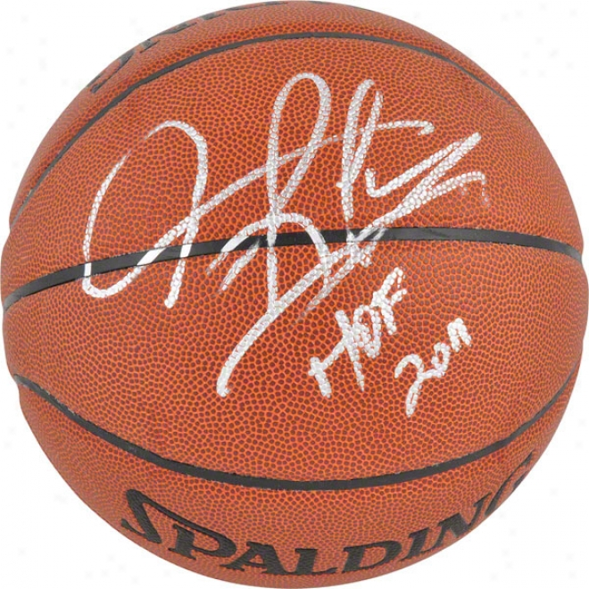 Dennis Rodman Autographed Basketball  Details: Chicago Bulls, Indoor-outdoor Basketball, &quothof 2011&quot Inscriptoin