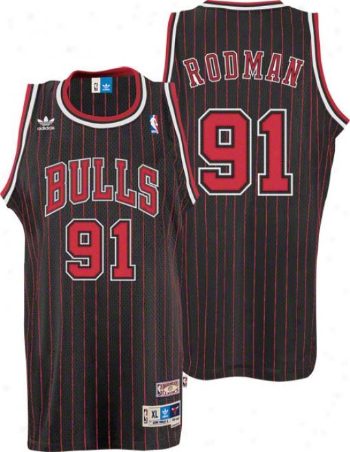 Dennis Rodman Jersey: Adidas Dismal Throwback Swingman #91 Chicago Bulls Jersey