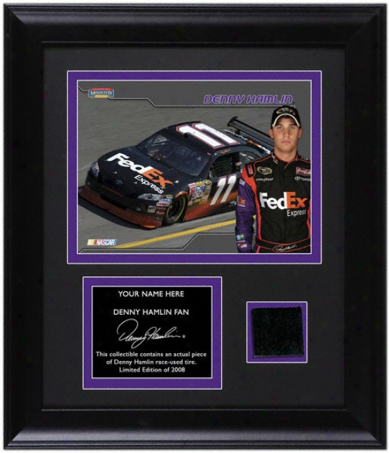 Denny Hzmlin Framed 6x7 Photograph By the side of Race Tire And Personalized Namepla5e