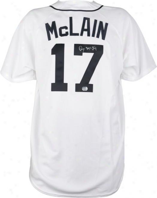 Denny Mcclain Autographed Jersey  Details: Detroit Tigers, Majestic