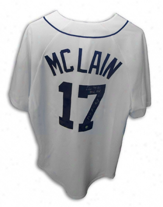 Denny Mclain Detroit Tigers Autographed White Jersey With ''31-6 1968 And 1968 Mvp-cy'' Inscription