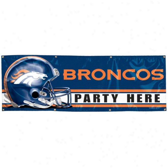 Denver Brobcos 2x6 Vinyl Banner