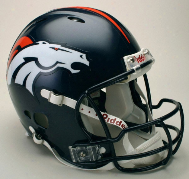 Denver Broncos Authentic Pro Line Revolution Riddell Full Skze Helmet
