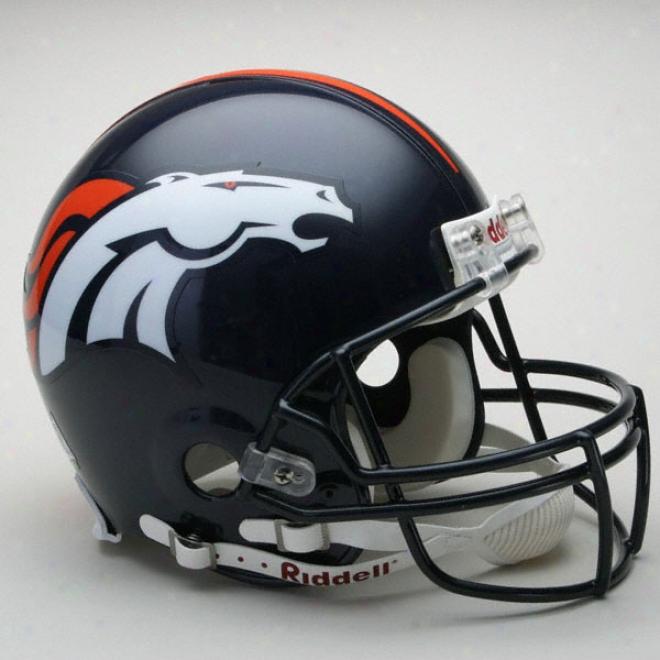 Denver Broncos Authentic Pro Line Riddell Full Size Helmet