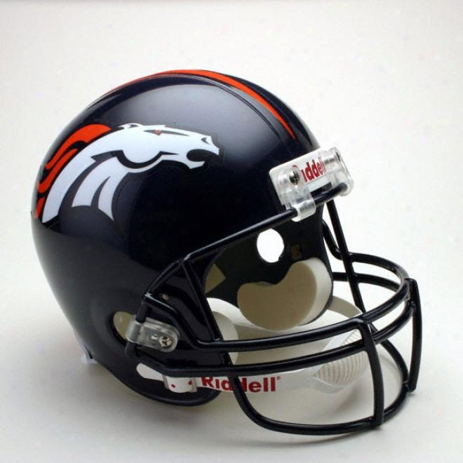 Denver Broncos Deluxe Replica Riddell Full Size Helmet