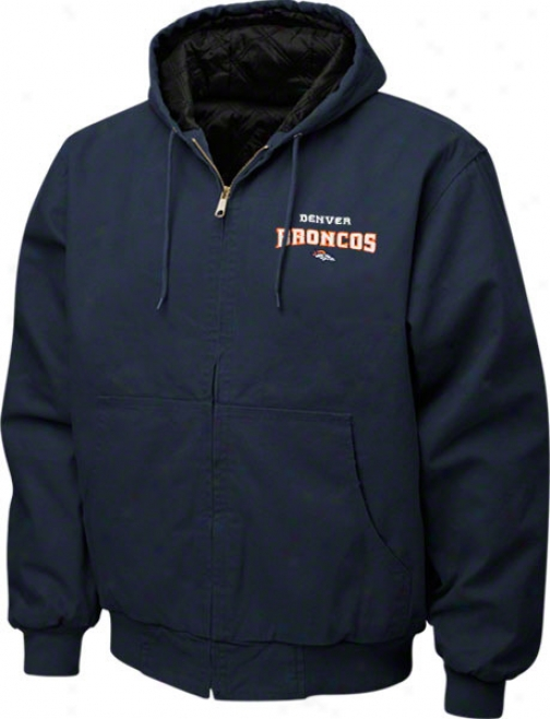 Denver Broncos Jacket: Navy Reebok Cumberland Jacket
