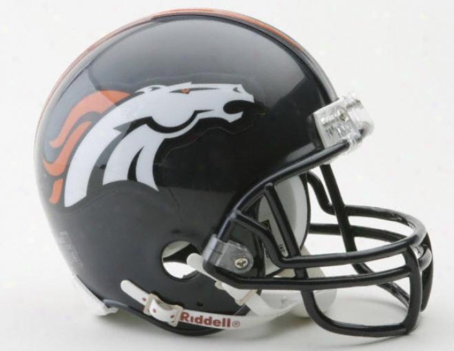 Denver Broncos Nfl Riddell Mini Helmet