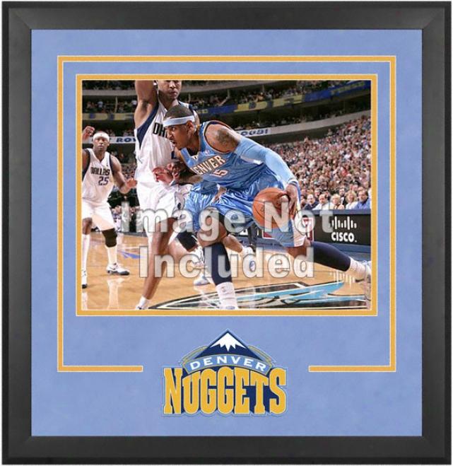 Denver Nuggets 16x20 Horizontal Setup Frame Upon Team Logo