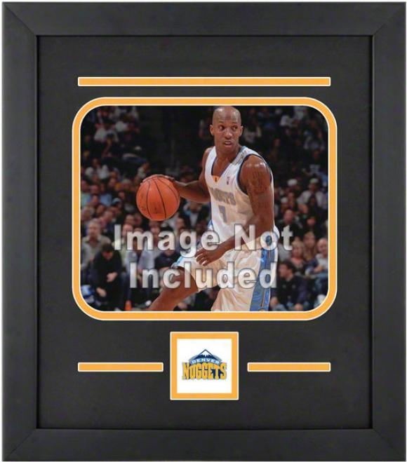 Denver Nuggets 8x10 Horizonyal Setup Frame With Team Logo