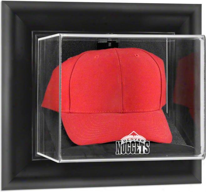 Denver Nuggets Framed Wall Moutned Logo Cap Display Case