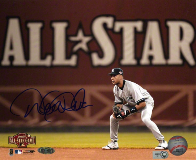 Derek Jeter Autographed 8x10  Details: New York Yankees, 2004 All Star Game Photo