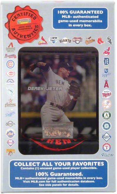 Derek Jeter Certified Authentics Game Used Dirt With Display Case
