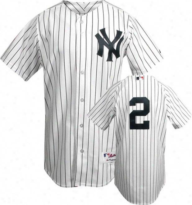 Derek Jeter Majestic Authentic Home Pinstripr On-field New York Yankees Jersey