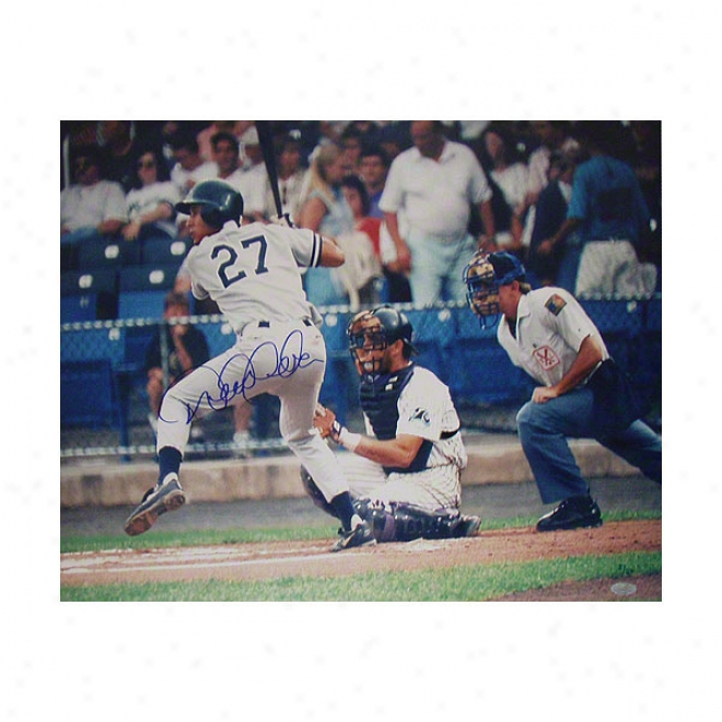 Derek Jeter New York Yankees 16x20 At Bat Minor League #27 Atographeed Photograph