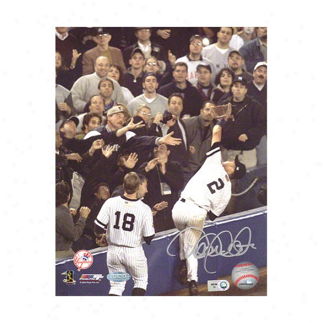 Derek Jeter New York Yankees 16x20 Falling Into The Stands Autographed Photograph