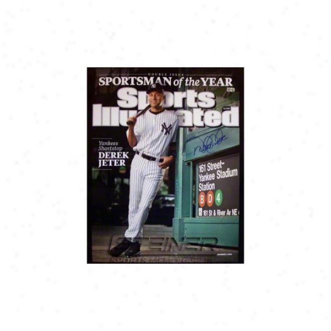 Deek Jeter New York Yznkees 16x20 Sportsman Of The Year Autographed Photograph