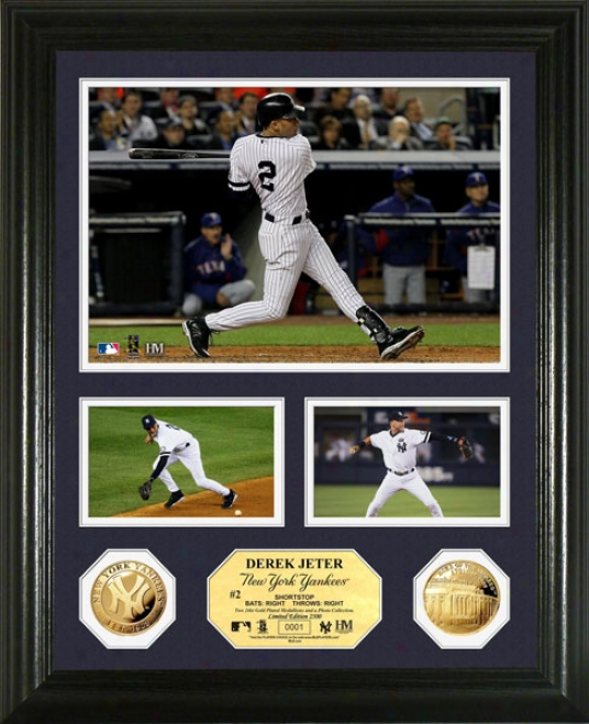 Derek Jeter New York Yankees 24kt Gold Coin Photo Mint