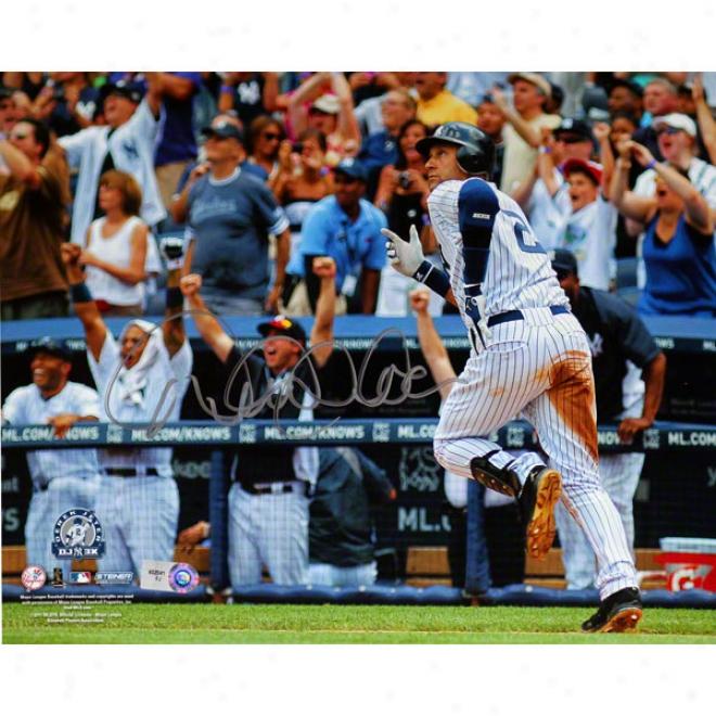 Derek Jeter New York Yankees 8x10 3000th Hit Running Autographed Photograph