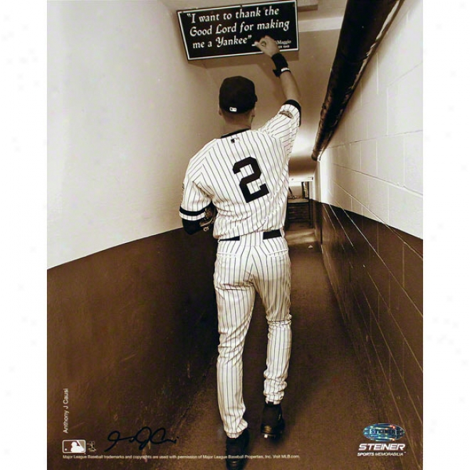 Derek Jeter Repaired York Yankees 8x10 Photo- Sepia
