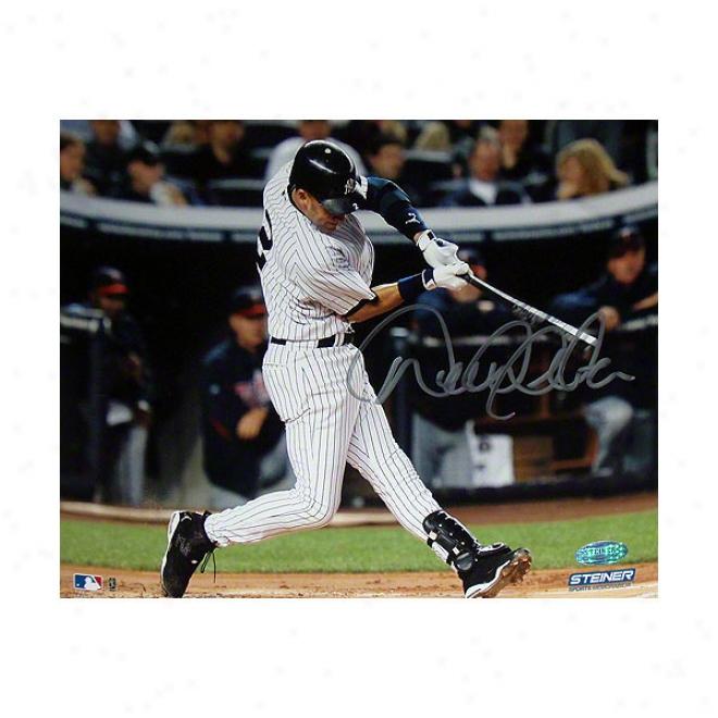 Derek Jeter New York Yankees 8x10 Swing Autographed Photograph